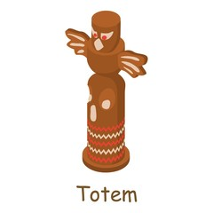 Totem icon, isometric 3d style