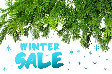 Christmas sale winter background