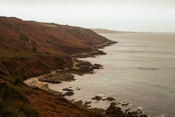 Vue des côtes normandes
