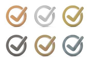 Check mark. 3d icon.