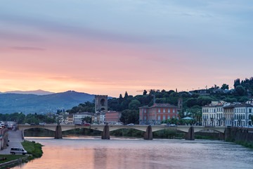 Wall Mural - Arno River Florence Italy