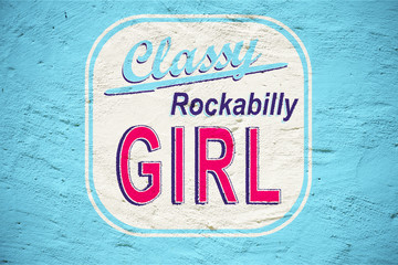 Classy Rockabilly Girl Vintage Logo