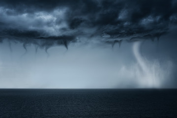 tornado on the sea