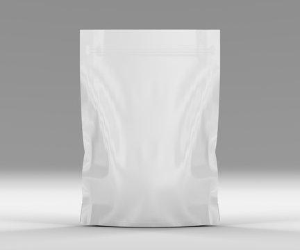 Single sealed foil food pouch bag pack