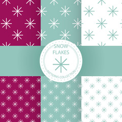 CHRISTMAS PATTERN COLLECTION. SNOW FLAKES EDITION.