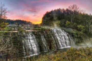 Thunder Bay Falls Sunrise - Galena, Illinois