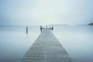 landing stage on lake