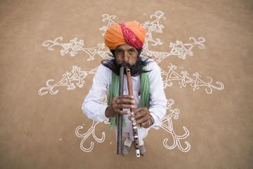 Rajasthani Musician. India.