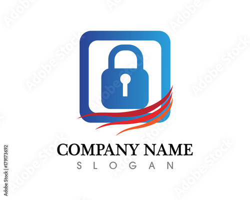 security guard logo design vector shield template stock image and