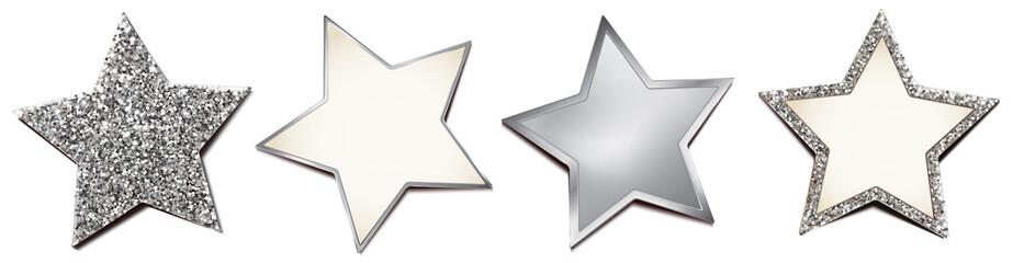 Sterne Set - Silber