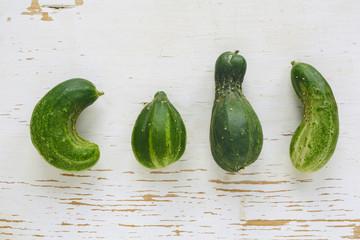 Misshapen organic cucumbers