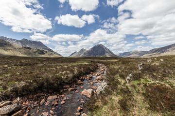River floats through scottish highlands