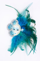 Carnival mask blue
