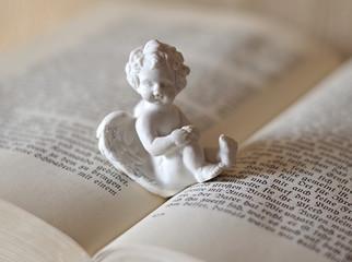 mały aniołek i książka