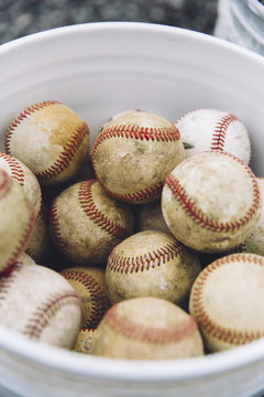 Baseballs in a Bucket
