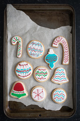 Christmas Themed Sugar Cookies