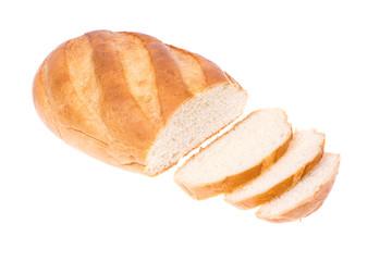 White wheat fresh bread