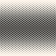 Vector halftone seamless pattern with diamond shapes, crystals, rhombuses