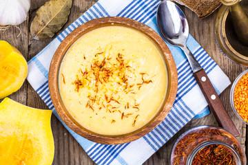 Pumpkin soup with saffron