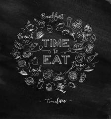 Monogram time to eat chalk