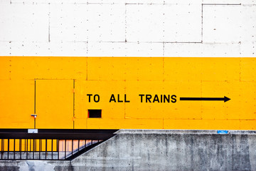 Train station sign, Oakland, CA