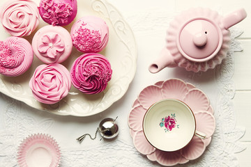 Afternoon tea, overhead view