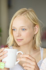 Beautiful Woman with cup