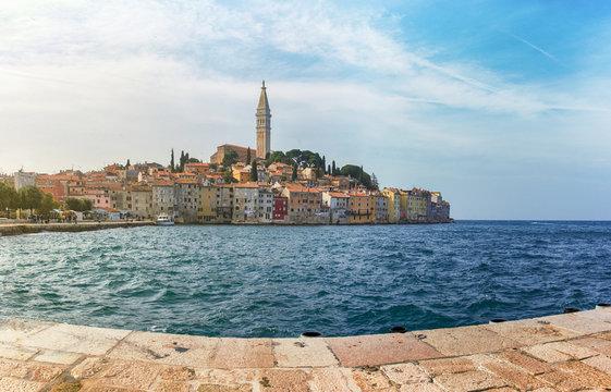 Panoramic view of Porec, Croatia, Adriatic coast