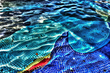 Mosaic under the water