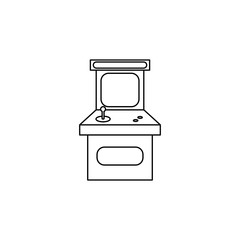 vintage game arcade cabinet icon. Simple line games icon. Can be used as web element, playing design icon