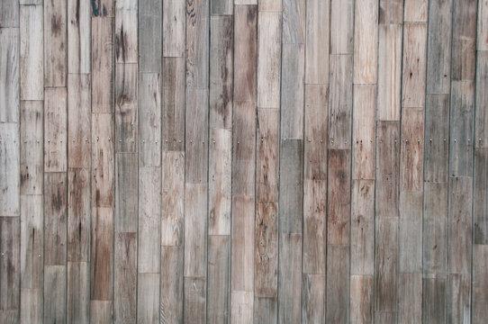 slats of a wooden wall