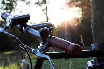 Fahrrad vor einer Schlossruine