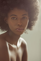 Beauty Portrait of a Young African Woman