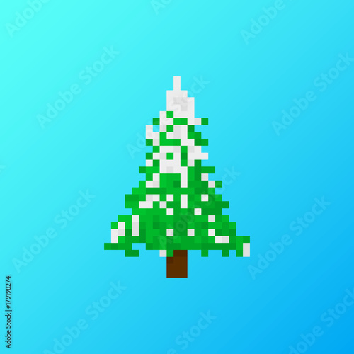 Pixel Christmas tree for games and applications
