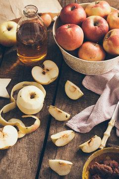Organic Apples and Apple Juice