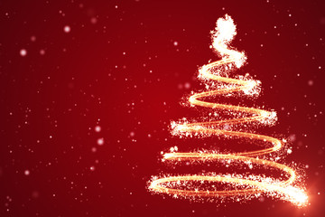 Christmas tree background - merry Christmas 3d illustration
