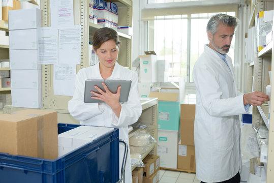 medical supplies staff