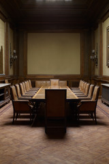 Boardroom of an old and abandoned business