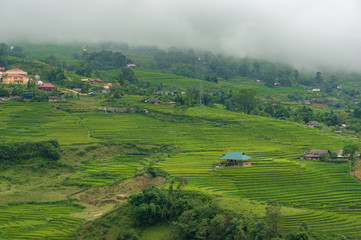 Panoramic view of countryside Vietnam