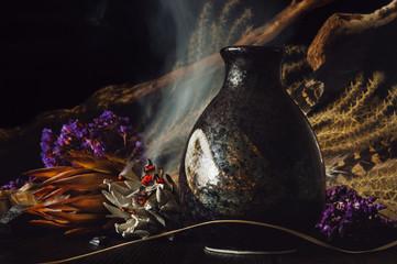 Dark Vase and Smudge