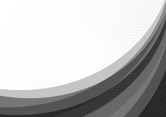 Gray wave line abstract geometric vector illustration