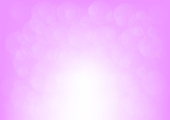 Pink bokeh abstract background, Vector illustration