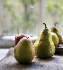 Fresh pears fruit