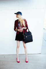 Fashionable Blond Woman in the City