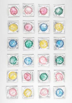 Colorful Condom Background