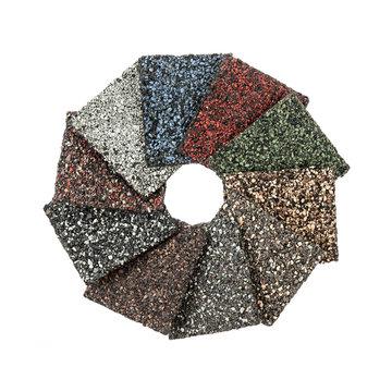 Asphalt shingles samples