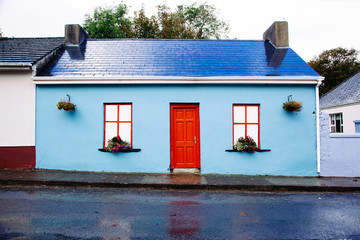 Exterior Blue and Red House