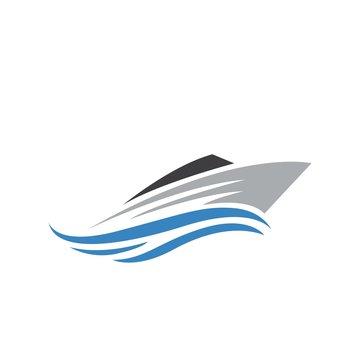 Ship boat logo design
