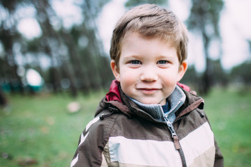 Portrait of a cute young toddler