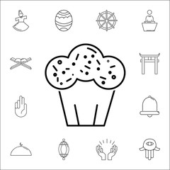 Easter cake icon. Set of religion icons. Web Icons Premium quality graphic design. Signs, outline symbols collection, simple icons for websites, web design, mobile app